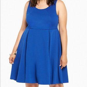 Torrid Textured Knit Blue Skater Dress/ 1